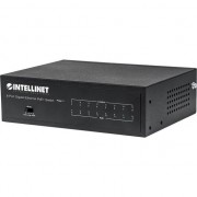 Switch Intellinet 561204, gigabit PoE / PoE + 60W, 8 x 10/100/1000 Mbps RJ45, VLAN, desktop, Negru