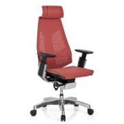 Hjh Silla ergonómica HADES malla, 100% ajustable, en rojo