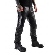 pantaloni uomo pelle OSX - Out-Law - Nero - 305