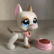 Mini Pet Shop Littest Lps Great Dane Dog #1647 Puppy Pink Ear Brown Patches Spotted Children Toys
