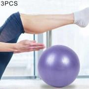 3 PCS Mini Yoga Pilates Pelota De PVC A Prueba De Explosion Bola Equilibrada Formación Fitness Gimnasia Con Paja, Diámetro: 25 Cm (purpura)