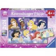 Детски пъзел 2 в 1 - Дисни принцеси - Ravensburger, 707726