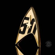 Quantum Mechanix Star Trek Replica 1/1 50th Anniversary Magnetic Starfleet Badge