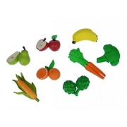 Miniblings 7X Vegetable Fruit Set Rubber Foods Figure Figures Figurines Garden Food Vitamins