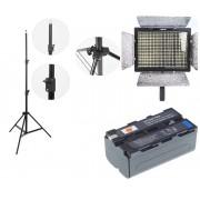 Kit lumina continua Lampa Yongnuo YN600L+ 2x Acumulatori Dste NP F+ incarcator + stativ 270CM