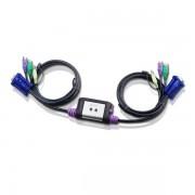 Aten CS62A PS/2 VGA KVM Switch 1,2m