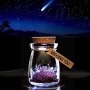 MikaMax Crystal Wish Jar - Geel