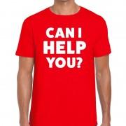 Bellatio Decorations Can i help you beurs/evenementen t-shirt rood heren