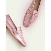 Boden Pflaumenblüte/Metallic, Schlangenoptik Faye Loafer Damen Boden, 39½, Pink