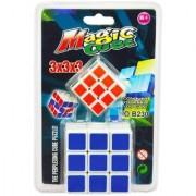 2 in 1 Magic Cube 3x3x3 Sticker-less Rubik's Cube Puzzle (1Big+1 Small)