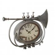 Стенен часовник [en.casa]® Тромпет - с аналогови стрелки - 68 x 5,5 x 68 см.- цветен - стъкло