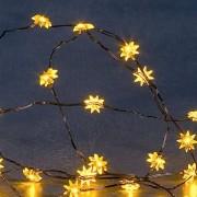 Konstsmide Batteriebetriebene Sternchen-Lichterkette - 20 LEDs, gelb