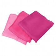 Set doekjes van biologische zijde, Roze-tinten l 27 x b 27 cm