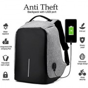 Anti Theft Backpack USB Charging Port 15 Inch Laptop Bag (unisex) by Shopaddictions