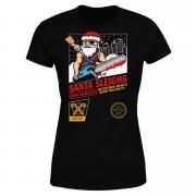 Santa Sleighs - Black Women's T-Shirt - S - Black