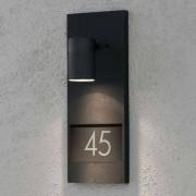 Konstmide Vacker husnummerlampa Modena 7655, svart