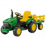 Tractoras JD Ground Force w trailer Peg Perego