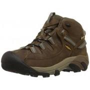 KEEN Women's Targhee II Mid WP Hiking Boot,Slate Black/Flint Stone,8.5 M US