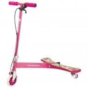 Trotineta Powerwing Razor Sweet Pea Pink, frana de mana, cadru otel, Roz