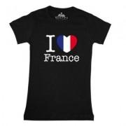 geschenkidee.ch Ländershirt Frankreich, Schwarz, M, Frau
