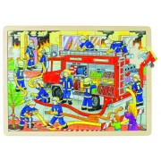 Fa puzzle, tűzoltók