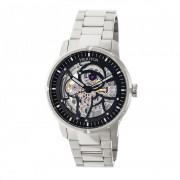 Heritor Automatic Ryder Skeleton Dial Bracelet Watch - Silver/Black HERHR4608
