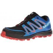 Salomon Men s Speedtrak-M Trail Runner Black/Blue Yonder/Lava Orange 7 D(M) US