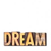 Palavras Letras em Alto Relevo Dream Sonho