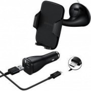 Kit Samsung Suport auto parbriz EE-V200 cablu Micro-USB detasabil Negru