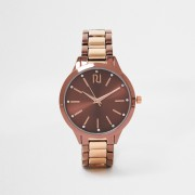 river island Womens Brown mocha mixed bracelet watch (One Size)