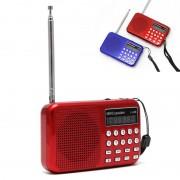 OOTDTY Mini LCD Digitale Audio FM Radio Speaker USB Micro SD TF Card Mp3-speler