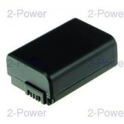 2-Power Digitalkamera Batteri Sony 7.2v 900mAh (NP-FW50)