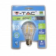 V-Tac VT-1887 Lampadina LED filamento 6W E27 luce bianco caldo 2700K - Blister - 4332