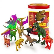 Playset Toy, 12 Large Dinosaur Assortment With Storage Kids Toys Playsets