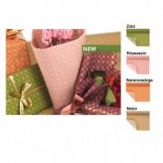 Csomagoló papír apró mintás 0,7x50m zöld