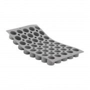 De Buyer DeBuyer Elastomoule Silicone Mould 40 Mini Cylinders 14ml Each