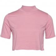 pink turtleneck crop top