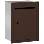 Salsbury Industries 2245ZU Standard Recessed Mounted Letter Box with USPS Access, Bronze