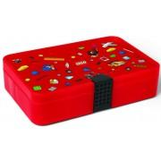 LEGO Cutie de depozitare cu sertare - roșu