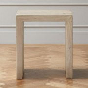 Blanche Bleached Acacia Side Table by CB2