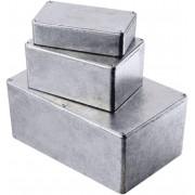 Carcasă de aluminiu turnată, ecranare EMC, IP54, 1590Q, 120 x 120 x 34 mm