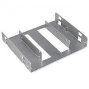Adaptor Lian Li HD-520A de la 5.25 inch la 2x 2.5 inch HDD/SSD, aluminiu, culoare argintie