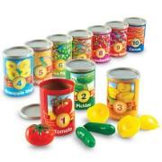 Numara conservele Set invatare fructe cifre si culori