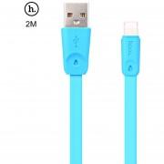 HOCO X9 8 Micro USB TPE Cable de Transferencia de (Blanco)