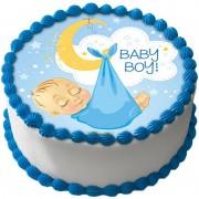 Babyshower Pojke Tårtbild A