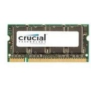 Crucial - Mémoire - 256 Mo - SO DIMM 200 broches - DDR - 333 MHz / PC2700 - 2.5 V - mémoire sans tampon - NON ECC