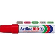 Permanent marker ARTLINE 100 corp metalic varf tesit 7.5-12.0mm - rosu