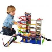 A to Z 6 Level Modern Car Park Auto Parking Garage Petrol Station Kids Play Set Toy