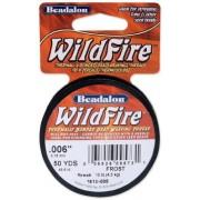 "Beadalon Wildfire Stringing Thread 0.006"" (.15mm) Diameter 50yd/Pkg-Frost"