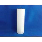 Rusztikus HENGER Fehér gyertya 5x15 cm